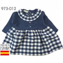 Vestido manga larga tejido combinado cuadros - Pecesa - PCI-973-012