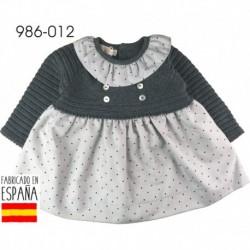 PCI-986-012 fabricantes de ropa de bebé Vestido manga larga