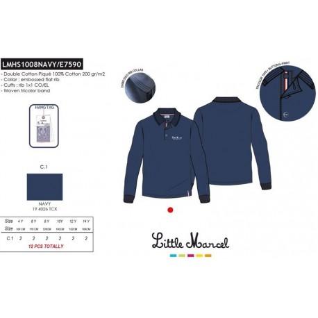 TMBB-LMHS1008 mayorista de ropa infantil Polo algodón manga