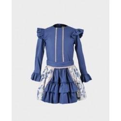 Conjunto niña blusa y falda-LOI-1010010620-La Ormiga