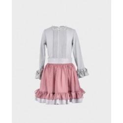 Conjunto niña blusa y falda-LOI-1010073020-La Ormiga