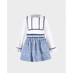 Conjunto niña blusa y falda-LOI-1010121420-La Ormiga