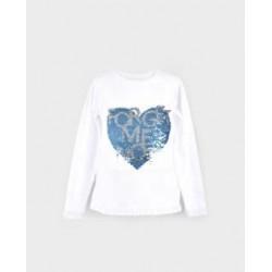 Camiseta niña corazon-LOI-1011070403-La Ormiga