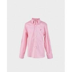 Camisa niño burdeos coderas bordadas col. 17,20-LOI-1012054801-La Ormiga
