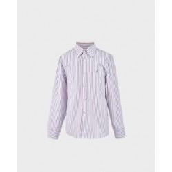 Camisa niño rayas burdeos / grises col. 28-LOI-1012110301-La Ormiga