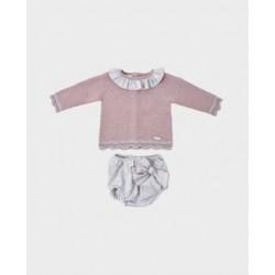 Conjunto nicky rosa + braguita gris lunar mod. 1107-LOI-1018220701-La Ormiga