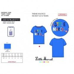 Camiseta manga corta 100% algodón-SCFI-LMSE1027BLUE-LITTLE MAR