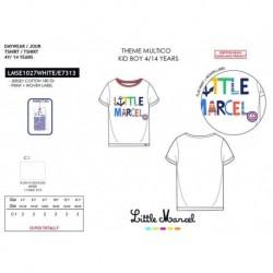 Camiseta manga corta 100% algodón-SCFI-LMSE1027WHITE-LITTLE MAR