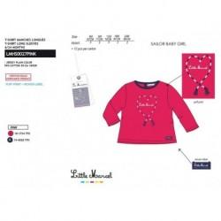 TMBB-LMHS0027PINK proveedor ropa de niñas Camiseta manga larga