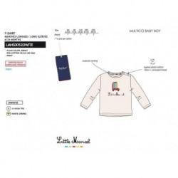 Camiseta manga larga 95%algodon/5% ea-SCFI-LMHS0052OWHITE-LITTLE MAR