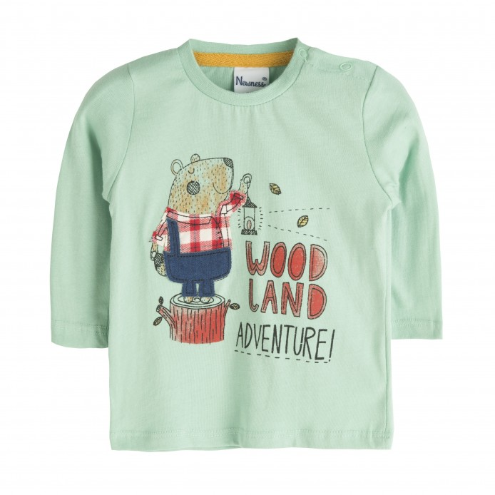 TMBB-BBI06023 Newness ropa infantiil al por mayor Camiseta oso