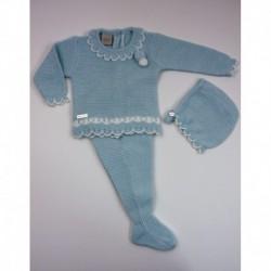 PBI-2001-Celeste/Mezcla fabricantes de ropa de bebe Conjunto 3
