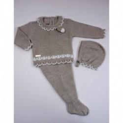 PBI-2001-Piedra/Mezcla fabricantes de ropa de bebe Conjunto 3