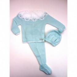 PBI-2004-Agua fabricantes de ropa de bebe Conjunto 3 piezas