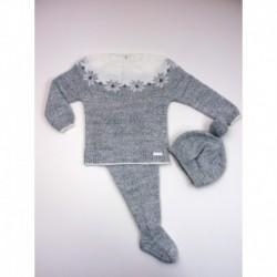 PBI-2004-Gris/Mezcla fabricantes de ropa de bebe Conjunto 3