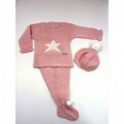 PBI-2011-Rosa/Mezcla fabricantes de ropa de bebe Conjunto 3