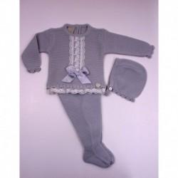 PBI-2016-Perla fabricantes de ropa de bebe Conjunto 3 piezas