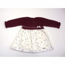 PBI-2040-Ciruela fabricantes de ropa de bebe Vestido punto