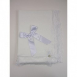 Mantita bodoques puntilla-Primbaby-PBI-2070-Blanco