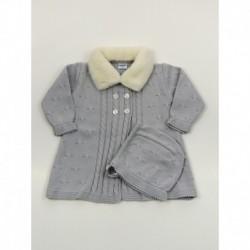 PBI-6141-Perla fabricantes de ropa de bebe Abrigo tachon