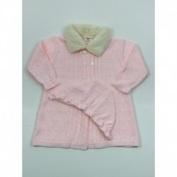 PBI-6141-Rosa fabricantes de ropa de bebe Abrigo tachon