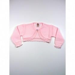 Chaqueta niña bobita boton cuello-Primbaby-PBI-6147-Rosa