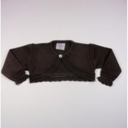 Chaqueta niña bobita boton cuello-Primbaby-PBI-6147-Chocolate