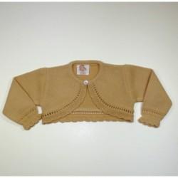 Chaqueta niña bobita boton cuello-Primbaby-PBI-6147-Camel
