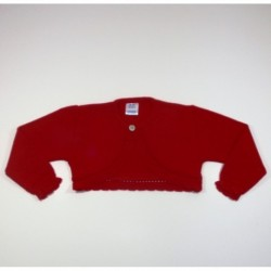 Chaqueta niña bobita boton cuello-Primbaby-PBI-6147-Rojo