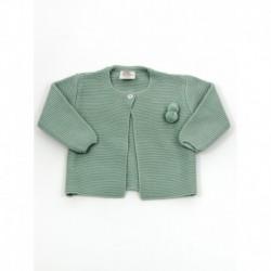 Chaqueta unisex boton cuello borlas-Primbaby-PBI-6151-Verde