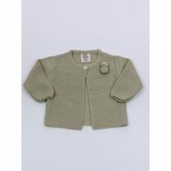 Chaqueta unisex boton cuello borlas-Primbaby-PBI-6151-Piedra
