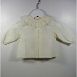 PBI-6190-Crudo fabricantes de ropa de bebe Blusa