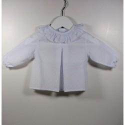 PBI-6190-Blanco fabricantes de ropa de bebe Blusa