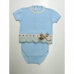 mayoristas ropa de bebe PBV-5127-Celeste tumodakids