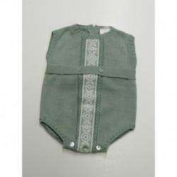 Body sin manga puntilla cristal-Primbaby-PBV-5142-Verde