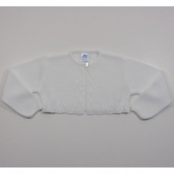 Chaqueta unisex corta aranes links-Primbaby-PBV-7152-Blanco