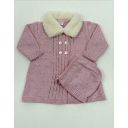 PBI-6141-Maquillaje fabricantes de ropa de bebe Abrigo tachon