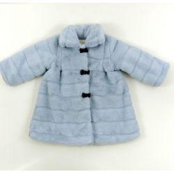 PBI-6145-Celeste fabricantes de ropa de bebe Abrigo pelo lazo