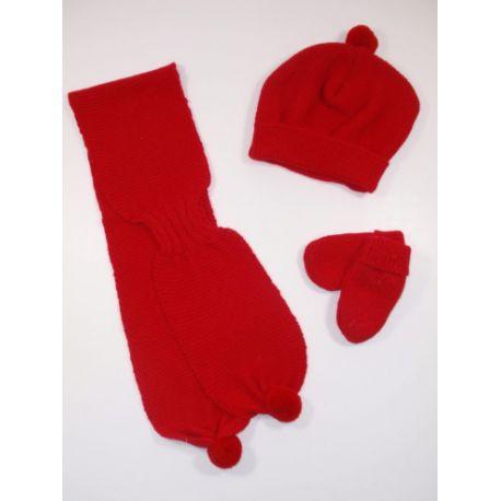 PBI-6183-Rojo fabricantes de ropa de bebé mantitas Conjunto