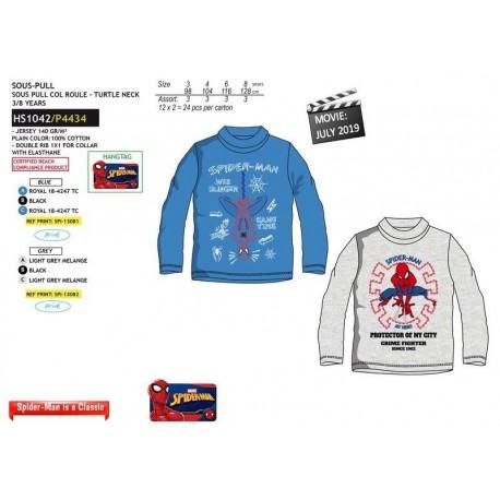 Camiseta ml cuello cisne 100%algodon-SCI-HS1042-SPIDERMAN