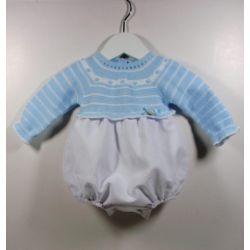 PBI-8131-Celeste fabricantes de ropa de bebe Pelele manga
