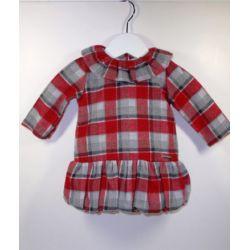 PBI-8160-Rojo fabricantes de ropa de bebe Vestido manga larga