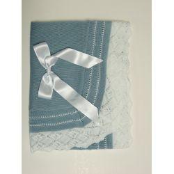 Chal bodoques liso volante emp. calado color-Primbaby-PBV-5190-Cielo/Blanco