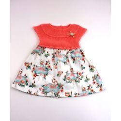 Vestido punto tela bailarinas-Primbaby-PBV-9146-Coral