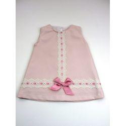 Vestido pique tachon pasacintas centro-Primbaby-PBV-9167-Maquillaje