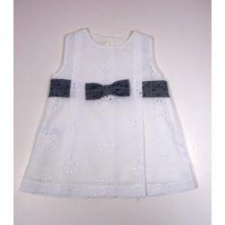 PBV-9170-Blanco venta al por mayor de ropa infantil Vestido