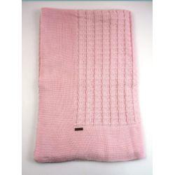 Mantita cuadro trenzas links-Primbaby-PBV-9185-Rosa mezcla