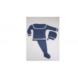 Conjunto 3p. menguado bodoques raya color-Primbaby-PBI-2010-Celeste