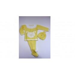 PBI-2009-Amarillo fabricantes de ropa de bebe Conjunto 3p.