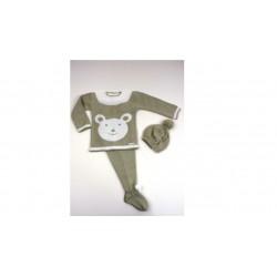 PBI-2009-Piedra fabricantes de ropa de bebe Conjunto 3p.